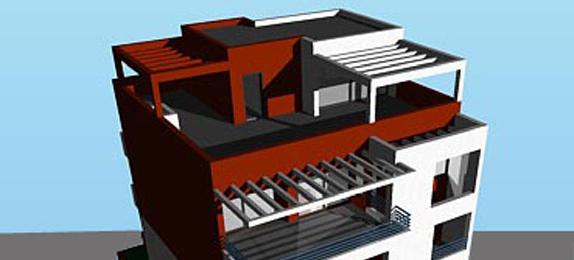 Πενταώροφο κτίριο κατοικιών σε pilotis με υπόγειο χώρο στάθμευσης, Ηλιούπολη